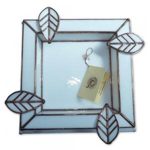 Artisan Glass Cigar Ashtray – Square – Pearl White