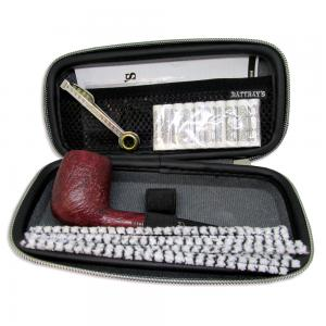 Rattrays Joy Meerschaum Inlay Sandblast 113 Pipe Case and Accessories