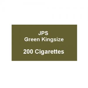 JPS Green Kingsize - 10 Packs of 20 Cigarettes