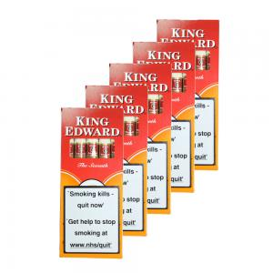 King Edward Tip Cigarillos - 5 x Packs of 5 cigars (25 cigars)