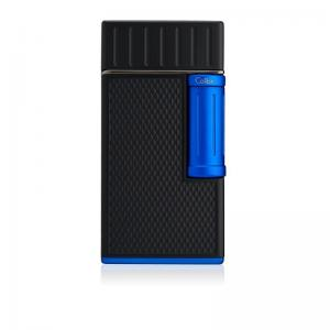 Colibri Julius Classic Double-flame Cigar Lighter - Black & Blue