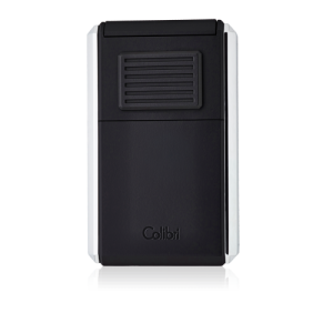 Colibri Astoria Triple Jet Flame Lighter - Brushed Chrome & Black