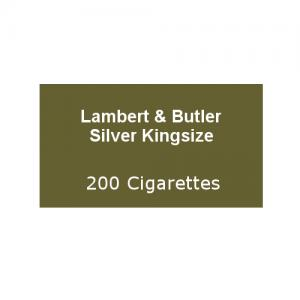 Lambert & Butler Silver Kingsize - 10 Packs of 20 Cigarettes