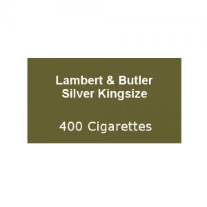 Lambert & Butler Silver Kingsize - 20 Packs of 20 Cigarettes (400)