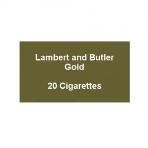 Lambert & Butler Gold - 1 Pack of 20 Cigarettes