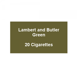 Lambert & Butler Green - 1 Pack of 20 Cigarettes