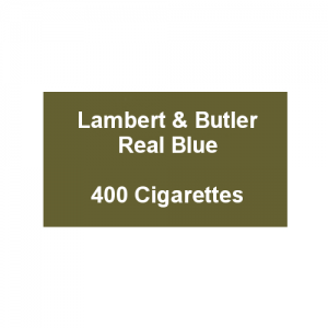 Lambert & Butler Real Blue - 20 Packs of 20 Cigarettes (400)