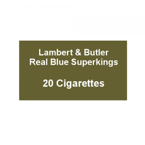 Lambert & Butler Real Blue Superkings - 1 Pack of 20 Cigarettes