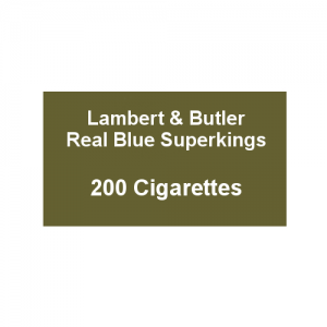 Lambert & Butler Real Blue Superkings - 10 Packs of 20 Cigarettes