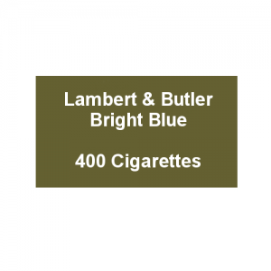Lambert & Butler Bright Blue - 20 Packs of 20 Cigarettes (400)