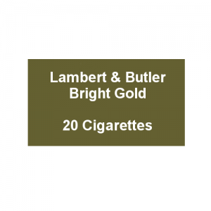 Lambert & Butler Bright Gold - 1 Pack of 20 Cigarettes