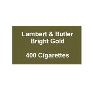 Lambert & Butler Bright Gold - 20 Packs of 20 Cigarettes (400)