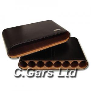 Leather Cigar Travel Case - Cedar Lined - 8 cigars