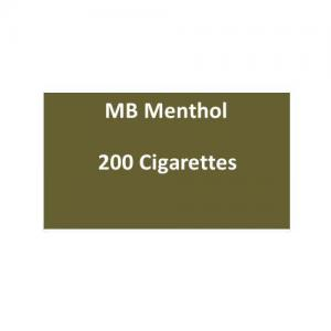 MB Menthol Cigarettes - 10 packs of 20 cigarettes (200)