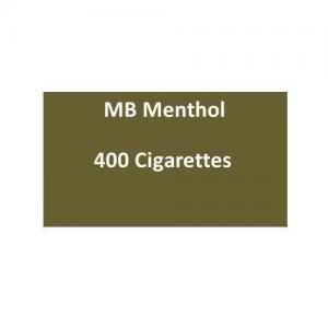 MB Menthol Cigarettes - 20 packs of 20 cigarettes (400)