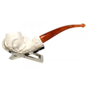 Meerschaum Standard Claw Bent Fishtail Pipe (MEER63)
