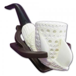 Claw Pattern Long Bowl Medium Meerschaum Pipe