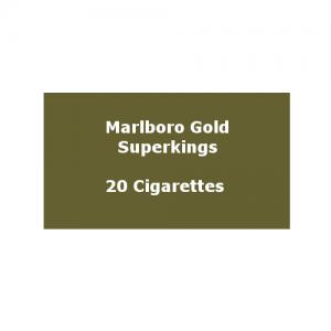 Marlboro Gold Superkings (100s) - 1 pack of 20 Cigarettes (20)