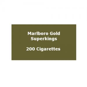 Marlboro Gold Superkings (100s) - 10 pack of 20 Cigarettes (200)
