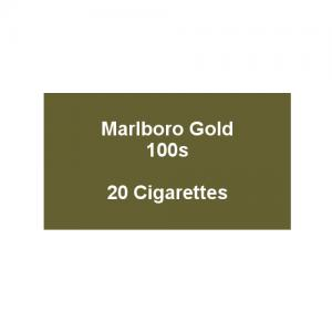 Marlboro Gold 100s - 1 pack of 20 Cigarettes (20)