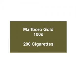 Marlboro Gold 100s - 10 pack of 20 Cigarettes (200)