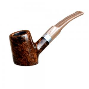 Christmas Gift - Mastro de Paja Smooth Burl Pot Table Semi Curve Italian Pipe with filter (0001)