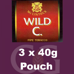 McLintock Wild C Pipe Tobacco 3x40g Pouches