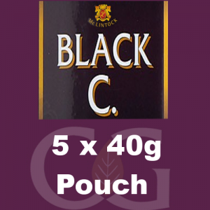 McLintock Black C Pipe Tobacco 5x40g Pouches