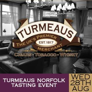 Turmeaus Norfolk Cigar and Spirit Tasting Event - 28/08/19