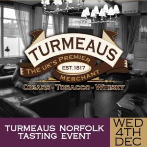 Turmeaus Norfolk Cigar and Spirit Tasting Event - 04/12/19