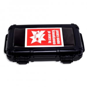 C.Gars In Case of Emergency Crushproof Travel Humidor Case - 5 Cigar Capacity