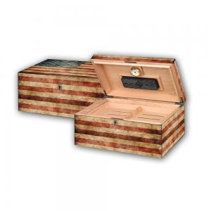 SALE - SLIGHT SECONDS - Old Glory Humidor – 100 Cigars Capacity