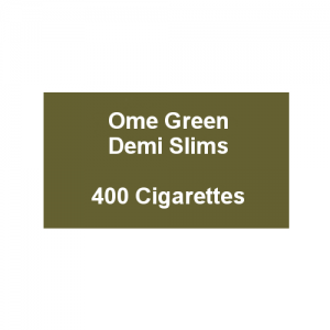 Ome Green Demi Slims - 20 packs of 20 cigarettes (20)