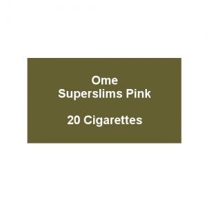 Ome Superslims Pink - 1 pack of 20 cigarettes (20)