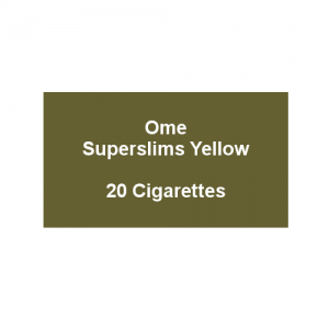 Ome Superslims Yellow  - 1 pack of 20 cigarettes (20)