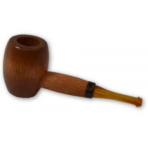 Ozark Mini Maple Missouri Meerschaum Amber Stem Pipe