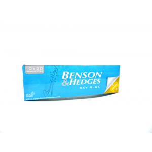 Benson & Hedges Sky Blue Kingsize - 10 Packs of 20 Cigarettes (200)