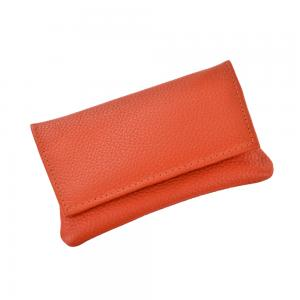 GBD Mini Leather Hand Rolling Tobacco Pouch - Orange