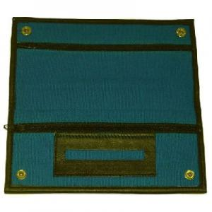 Blue Canvas Wallet With Rubber Lining And Paper Holder