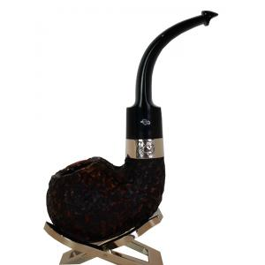 Peterson Sherlock Holmes Lestrade Rustic Silver Mounted P/Lip Pipe (PE180)