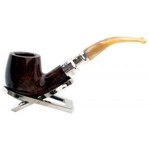 Peterson Flame Grain Spigot Champagne 69 Silver Mounted Fishtail Pipe (PE649)