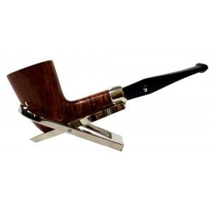 Peterson Amber Spigot Natural D17 Silver Mounted Fishtail Pipe (PE956)