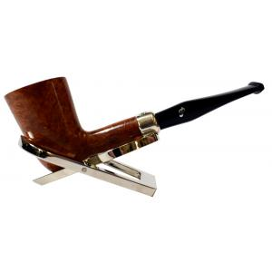 Peterson Amber Spigot Natural D17 Silver Mounted Fishtail Pipe (PE957)