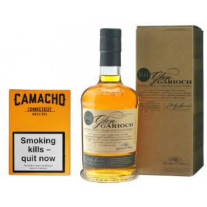 Camacho Connecticut Machitos Glen Garioch 12 Year Old Whisky Pairing Sampler