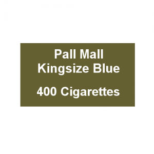 Pall Mall Kingsize Blue - 20 Packs of 20 Cigarettes (20)