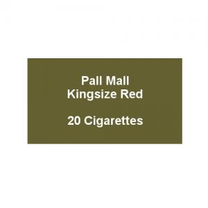 Pall Mall Kingsize Red - 1 Pack of 20 Cigarettes (20)