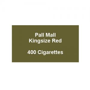 Pall Mall Kingsize Red - 20 Packs of 20 Cigarettes (400)