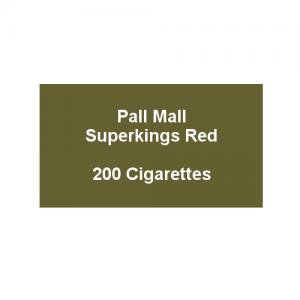 Pall Mall Superkings Red - 10 Packs of 20 Cigarettes (200)
