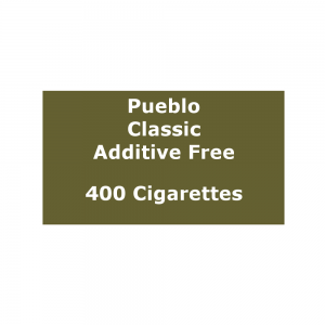 Pueblo Additive Free Cigarettes - Classic - 20 Packs of 20 (400)