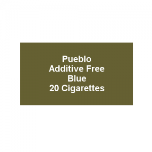 Pueblo Additive free Cigarettes - Classic Blue - 1 x Pack of 20 (20)